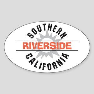 Riverside California Oval Sticker