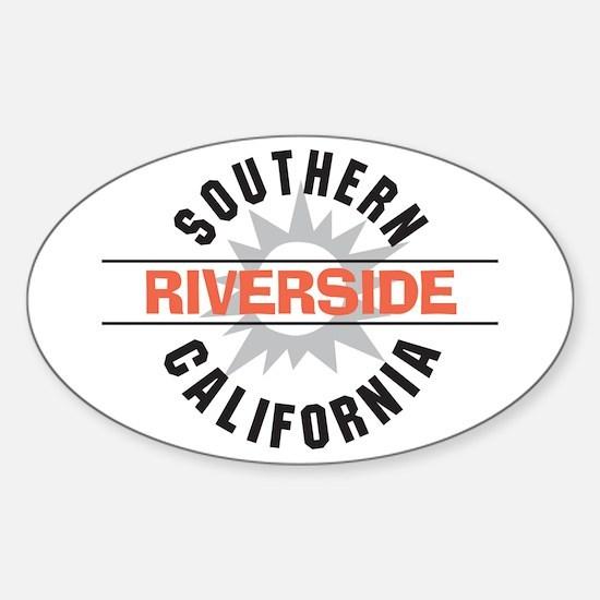 Riverside California Oval Decal