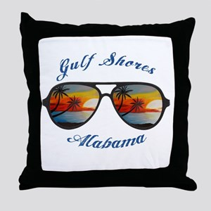 Alabama - Gulf Shores Throw Pillow