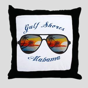 Alabama - Gulf Shores Throw Pillow