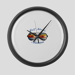 Alabama - Gulf Shores Large Wall Clock