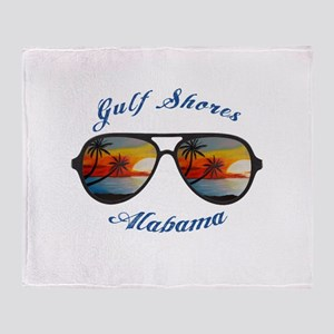 Alabama - Gulf Shores Throw Blanket