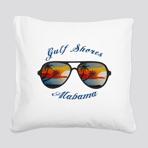 Alabama - Gulf Shores Square Canvas Pillow