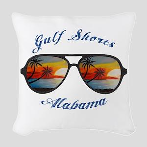 Alabama - Gulf Shores Woven Throw Pillow