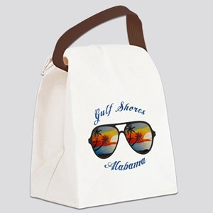 Alabama - Gulf Shores Canvas Lunch Bag