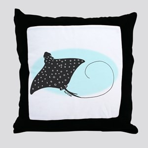 Eagle Ray Throw Pillow