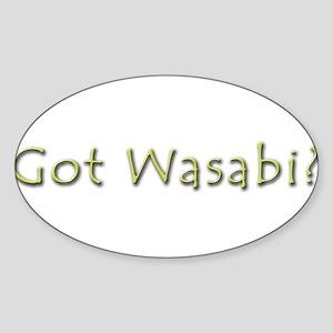 Got Wasabi Oval Sticker