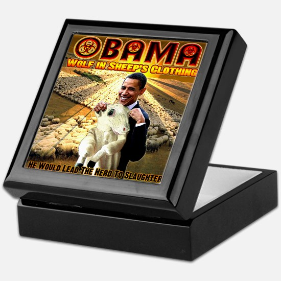 anti obama Keepsake Box