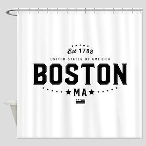 Boston Massachusetts MA State Shower Curtain
