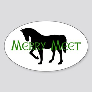 Merry Meet Spirit Horse Oval Sticker