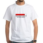 30 SECONDS UNTIL TEMPER EXPLODES... White T-Shirt