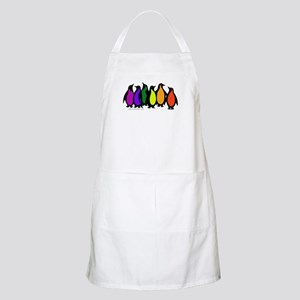 Gay Pride Rainbow Penguins BBQ Apron