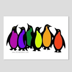 Gay Pride Rainbow Penguins Postcards (Package of 8