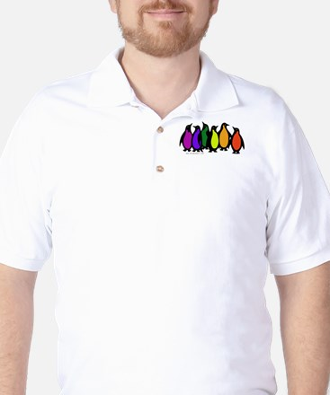 Gay Pride Rainbow Penguins Golf Shirt