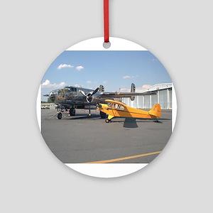 Piper Cub and B-25 Mitchell Keepsake (Round)