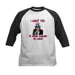 I Want You Kids Baseball Jersey