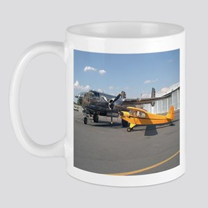Piper Cub and B-25 Mitchell Mug