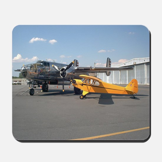 Piper Cub and B-25 Mitchell Mousepad