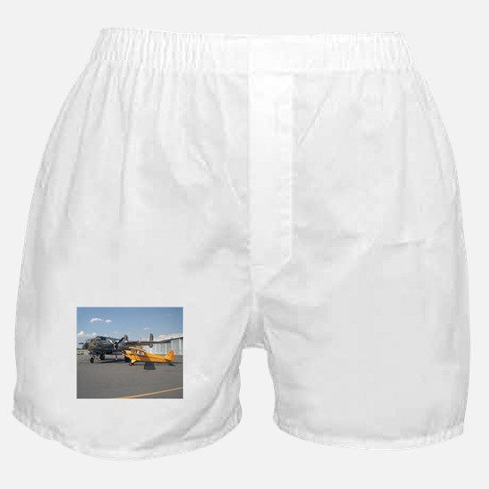 Piper Cub and B-25 Mitchell Boxer Shorts