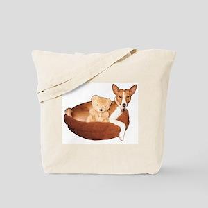 Tote Bag with Basenji