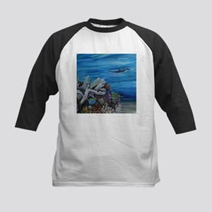 Dolphine and Surgeonfish Kids Baseball Jersey