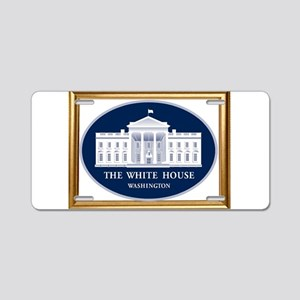 THE WHITE HOUSE Aluminum License Plate