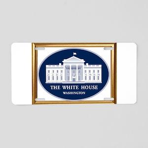 THE WHITE HOUSE Aluminum License Plate