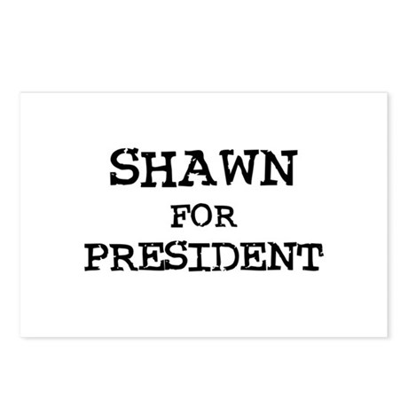 Shawn for President Postcards (Package of 8)