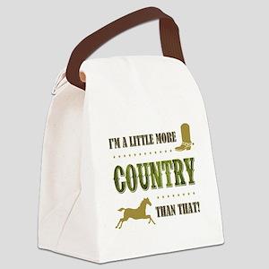 I'M A LITTLE MORE... Canvas Lunch Bag