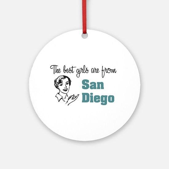 Best Girls San Diego Keepsake (Round)