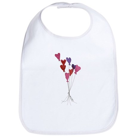 Balloon Hearts Bib