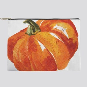 Watercolor Pumpkins Makeup Bag