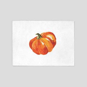 Watercolor Pumpkins 5'x7'Area Rug