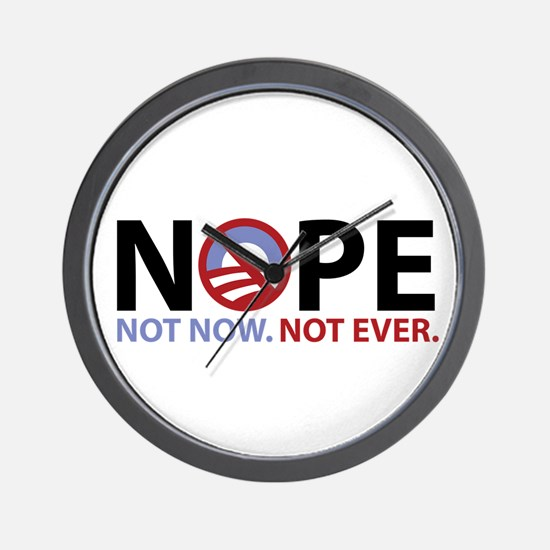 NOPE not now. not ever. anti Wall Clock
