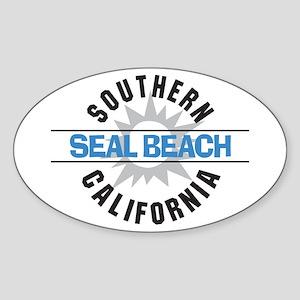 Seal Beach California Oval Sticker