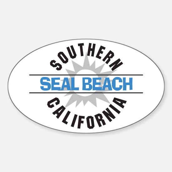 Seal Beach California Oval Decal