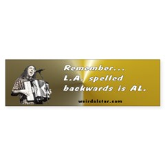 L.A. Al Bumper Bumper Sticker