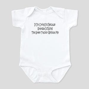 Grandpas Green Tractor Infant Bodysuit