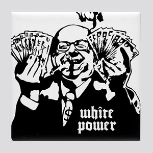 White Power Tile Coaster