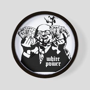 White Power Wall Clock