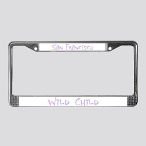 San Francisco Wild Child License Plate Frame
