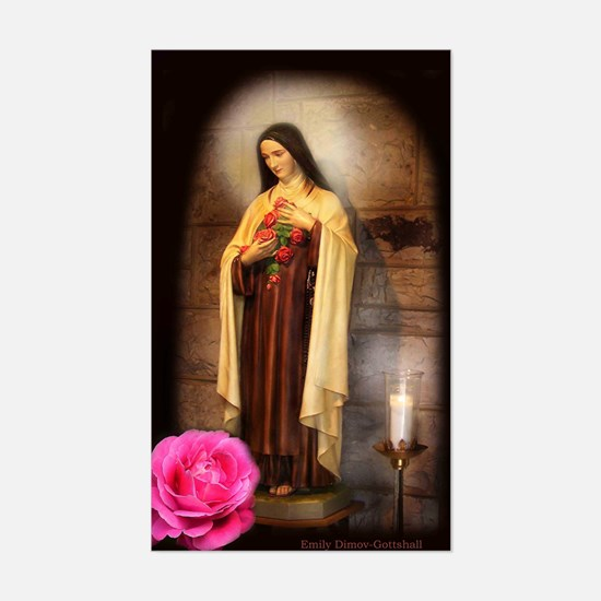 St Therese Rectangle Decal