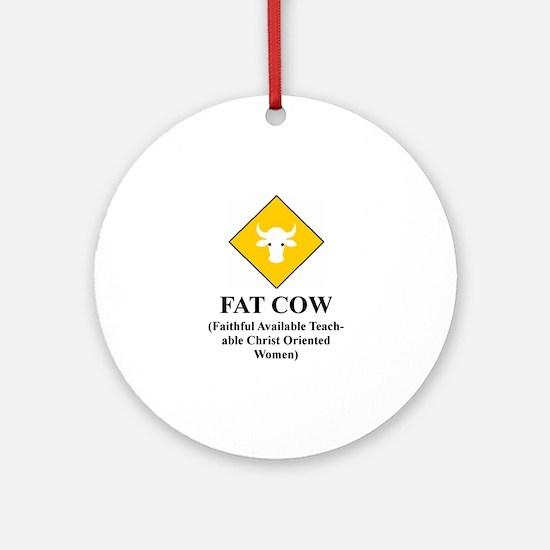 FAT COW Ornament (Round)