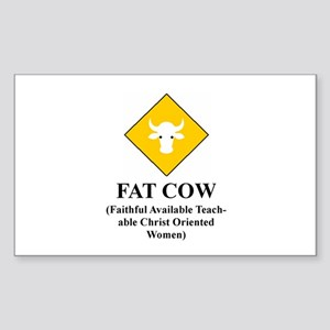 FAT COW Rectangle Sticker
