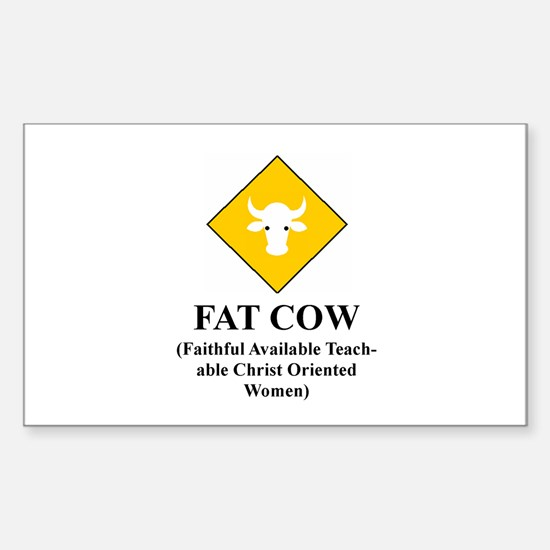 FAT COW Rectangle Decal