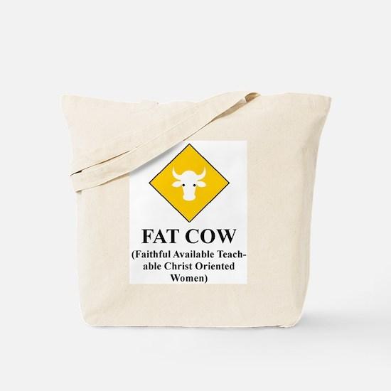 FAT COW Tote Bag