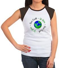 Save Earth Go Green Women's Cap Sleeve T-Shirt