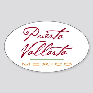 Puerto Vallarta - Oval Sticker