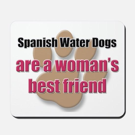 Spanish Water Dogs woman's best friend Mousepad