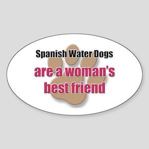 Spanish Water Dogs woman's best friend Sticker (Ov
